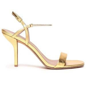 DVF | Frankie Gold Chain Slingback Sandals 39/US 9